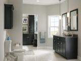 kraftmaid-dark-cabinetry-in-this-minimalist-bath