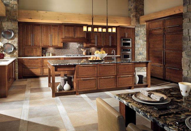 Kraftmaid Cabinetry In Mandolay Cherry Cognac