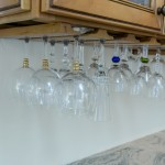 Under the counter wine glass storage