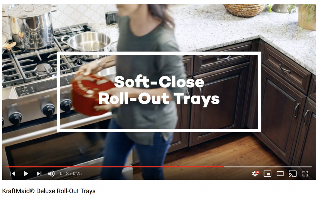 Video Kraftmaid Deluxe Roll Out Trays