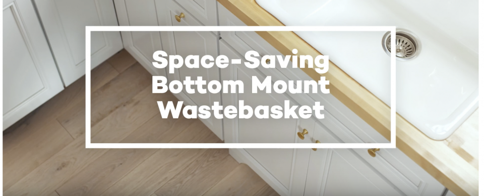 KraftMaid® Space-Saving Bottom-Mount Wastebasket
