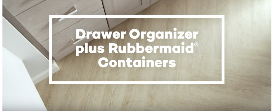 KraftMaid® Drawer Organizer with Rubbermaid® Containers