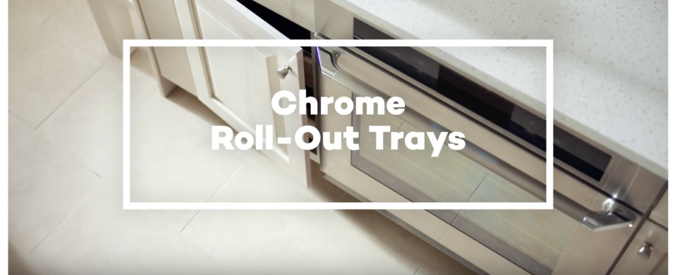 KraftMaid® Chrome Deluxe Roll-Out Tray