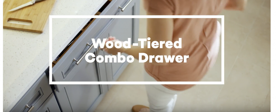 KraftMaid® Wood-Tired Combination Drawer