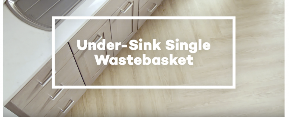 KraftMaid® Under-Sink Single Wastebasket