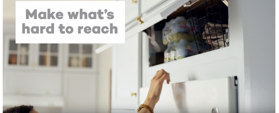 KraftMaid® Top Hinge Cabinet with Auto-Open