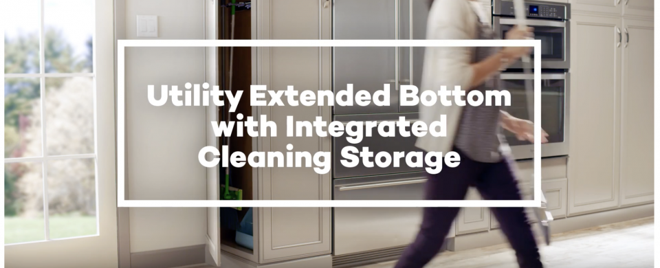 KraftMaid® Utility Extended Bottom with Integrated Cleaning Storage