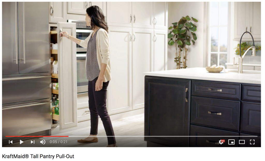 Video Kraftmaid Tall Pantry Pull Out