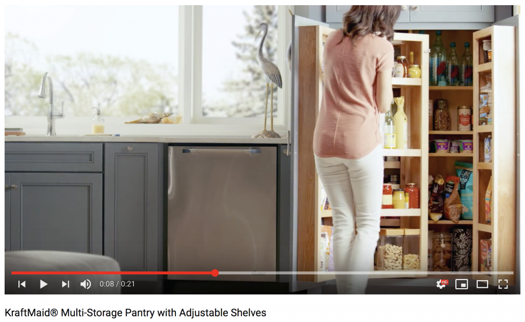 Video Kraftmaid Multi Storage Pantry With Adjustable Shelves Cabinets Unlimited